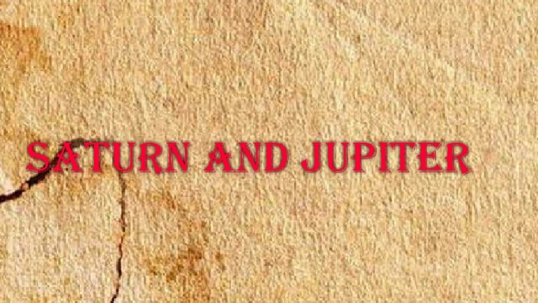 Saturn and Jupiter